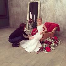 Съемка свадебных платьев.
